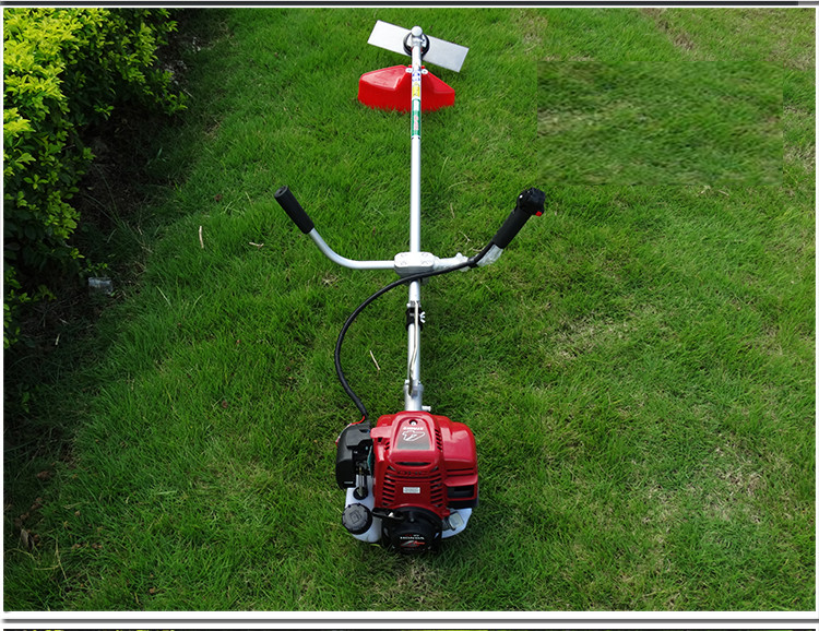 4 stroke GX35 Brush Cutter is brand new Gas 35cc 2 in 1  Brush cutter and line trimmer