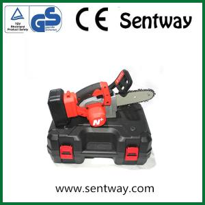 sentway Mini Chainsaw 4-Inch  Cordless Electric Protable Chainsaw with Brushless Motor for Wood Cutting Trees Branches Pruning Gardening