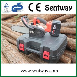 k898 sentway 8 Inch Mini Chainsaw Cordless Electric Handheld Chainsaw with Rechargeable Battery Pruning Scissors Chainsaw for Wood Cutting and Garden on Tree Branches
